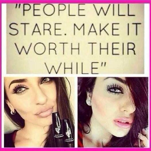 Bring on the stares!!!! I feel gorgeous with my 3D Mascara on!!! Click on the link In my bio!!