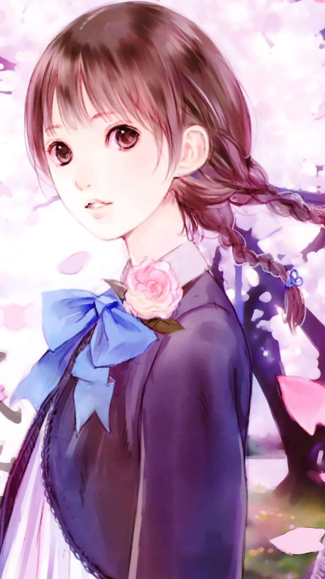 Cute Anime Girl Mobile Wallpaper Secondtofirst Com