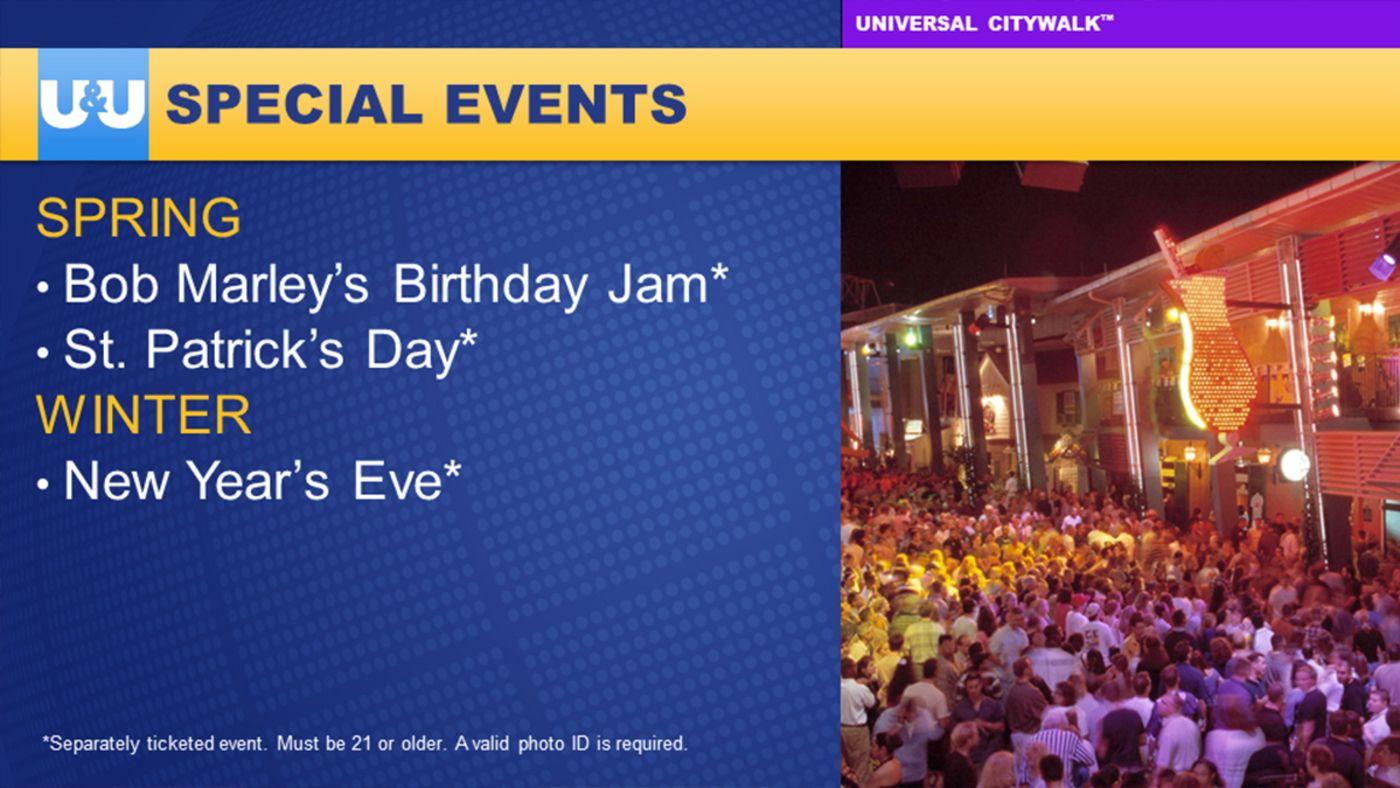 Special Events Bob marley birthday, Universal, Special