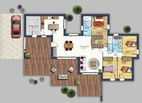 Maison moderne toiture monopente Carquefou | Bauen + grundrisse ...