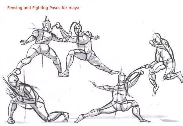 Msyjqf27 Gu Jpg 600 414 Drawings Fighting Poses Sketch Poses