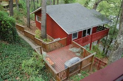 Asheville Swiss Chalets Vacation Rentals Asheville, NC (View from our chalet and what it looked like before the snow)