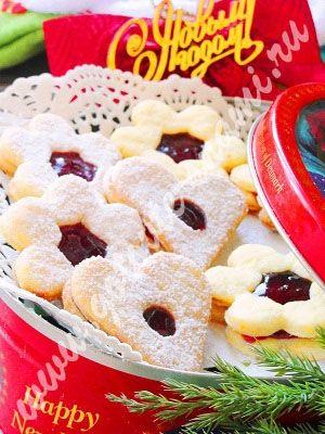 Печенье праздничное с джемом   Готовьте с нами