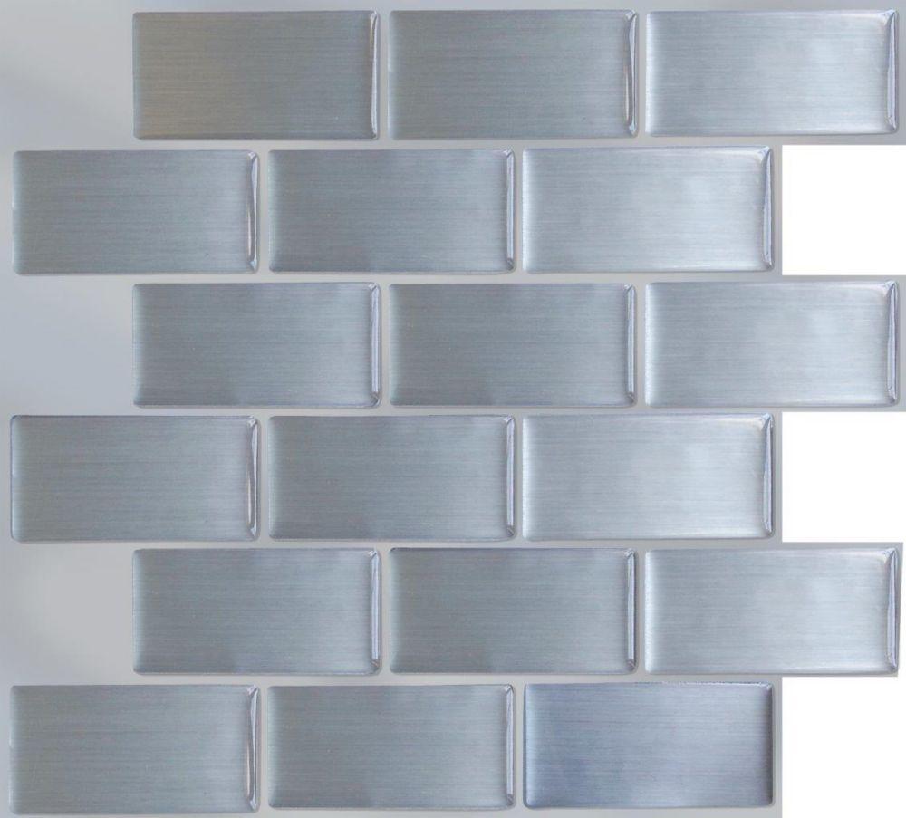 Merola Tile Conchella Subway Natural 11 3 4 Inch X 11 3 4 Inch X 2mm Natural Seashell Mosaic Tile 9 79sqft Case Vinyl Wall Tiles Primitive Kitchen Wall Tiles