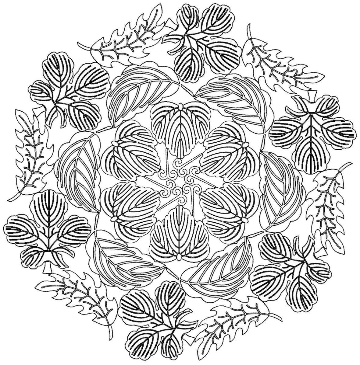 Coloriage de mandala gratuit dessins colorier imagixs coloriages pinterest mandalas - Dessin mandela ...