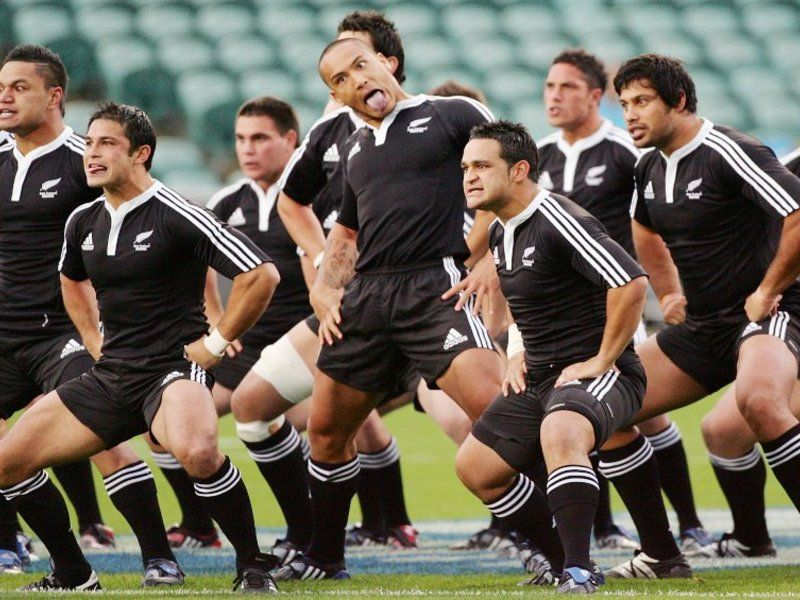All Blacks NZ Rugby Team Performing Traditional Maori Haka