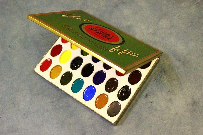 Gobesty Aquarell Palette 33 F/ächer Klapp Palette Aquarell /Ölgem/älde Palette malen mit Daumenloch und Pinsel Halte f/ür Aquarell Wasserfarben