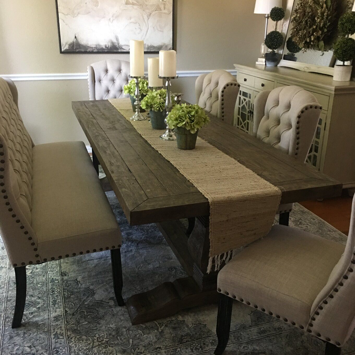 Lark Manor Gertrude Solid Wood Dining Table Reviews Wayfair Dinning Room Table Decor Dining Room Table Centerpieces Dining Room Table Decor