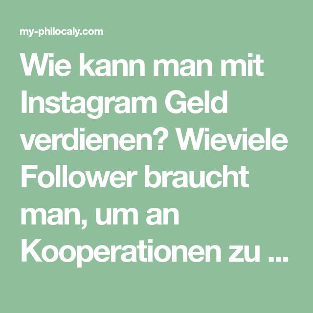mit instagram geld machen