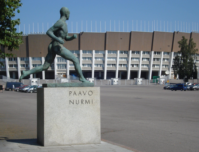 Paavo Nurmi Statue (Wäinö Aaltonen, 1925) and The Helsinki Olympic Stadium (Yrjö Lindegren ja Toivo Jäntti,1934) - Marianne Fahlström