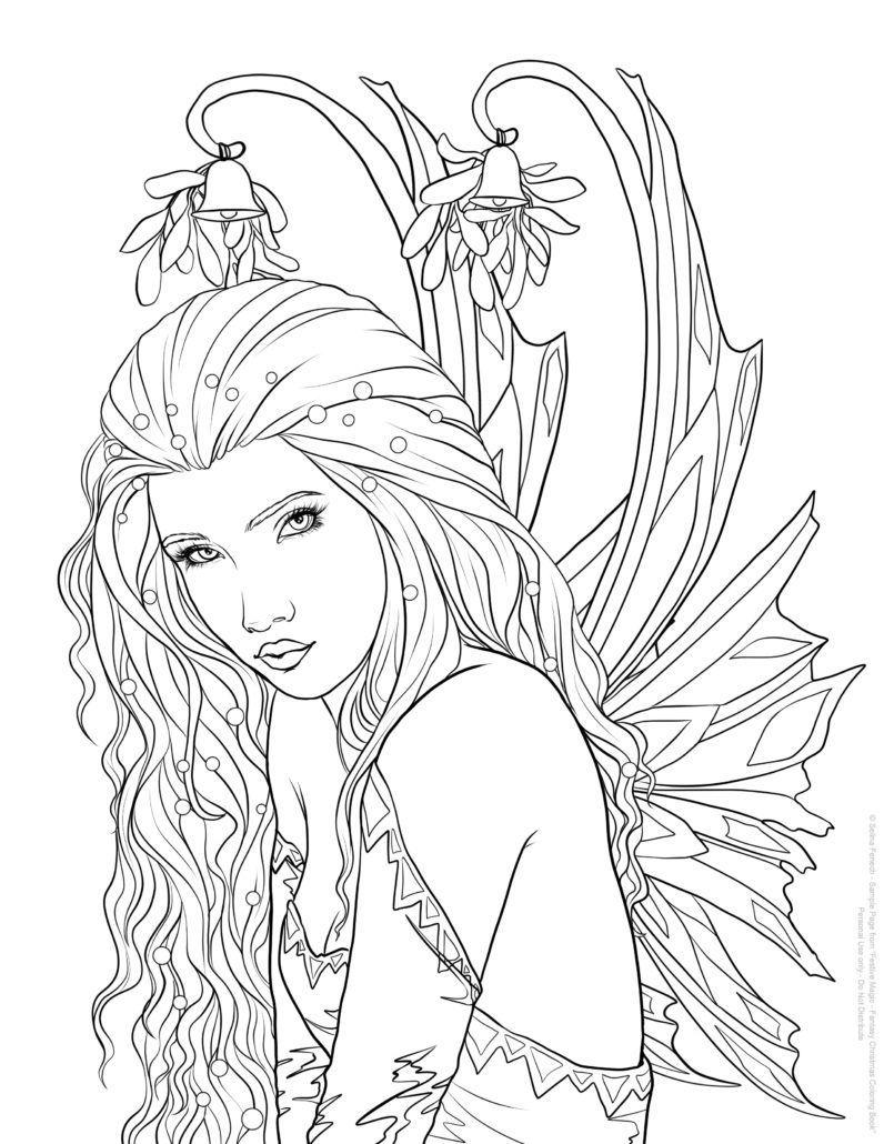 Selina Fenech Under The Mistletoe Fairy Coloring Pages Detailed Coloring Pages Coloring Pages [ 1030 x 796 Pixel ]