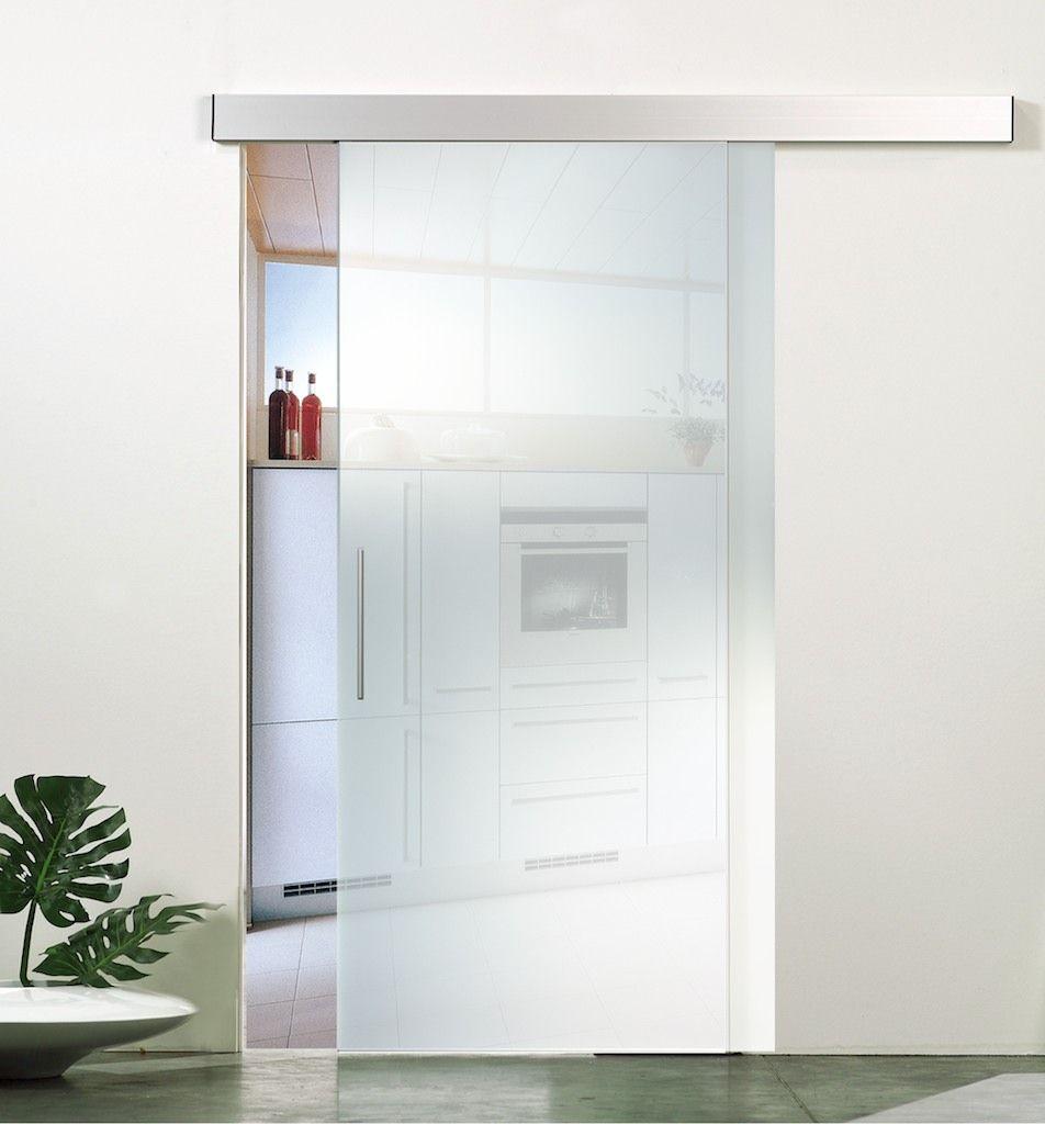 das inova schiebet r system ganzglas mit mattierter. Black Bedroom Furniture Sets. Home Design Ideas