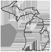 Michigan Lower Peninsula Outline Michigan Outline Michigan Tattoos Michigan Sticker