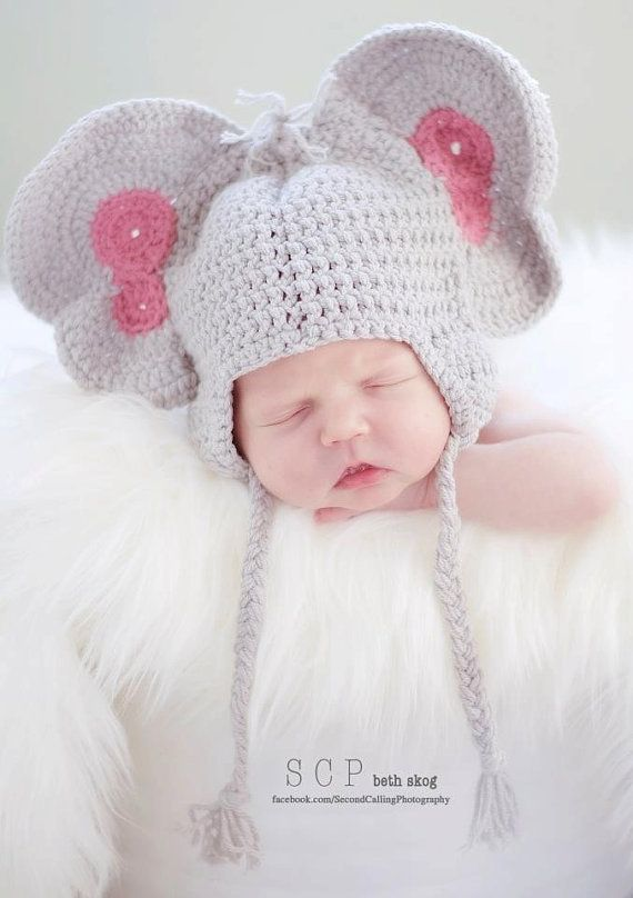 Peanuts the Elephant Crochet Hat PDF Pattern by Curtsay on Etsy ...