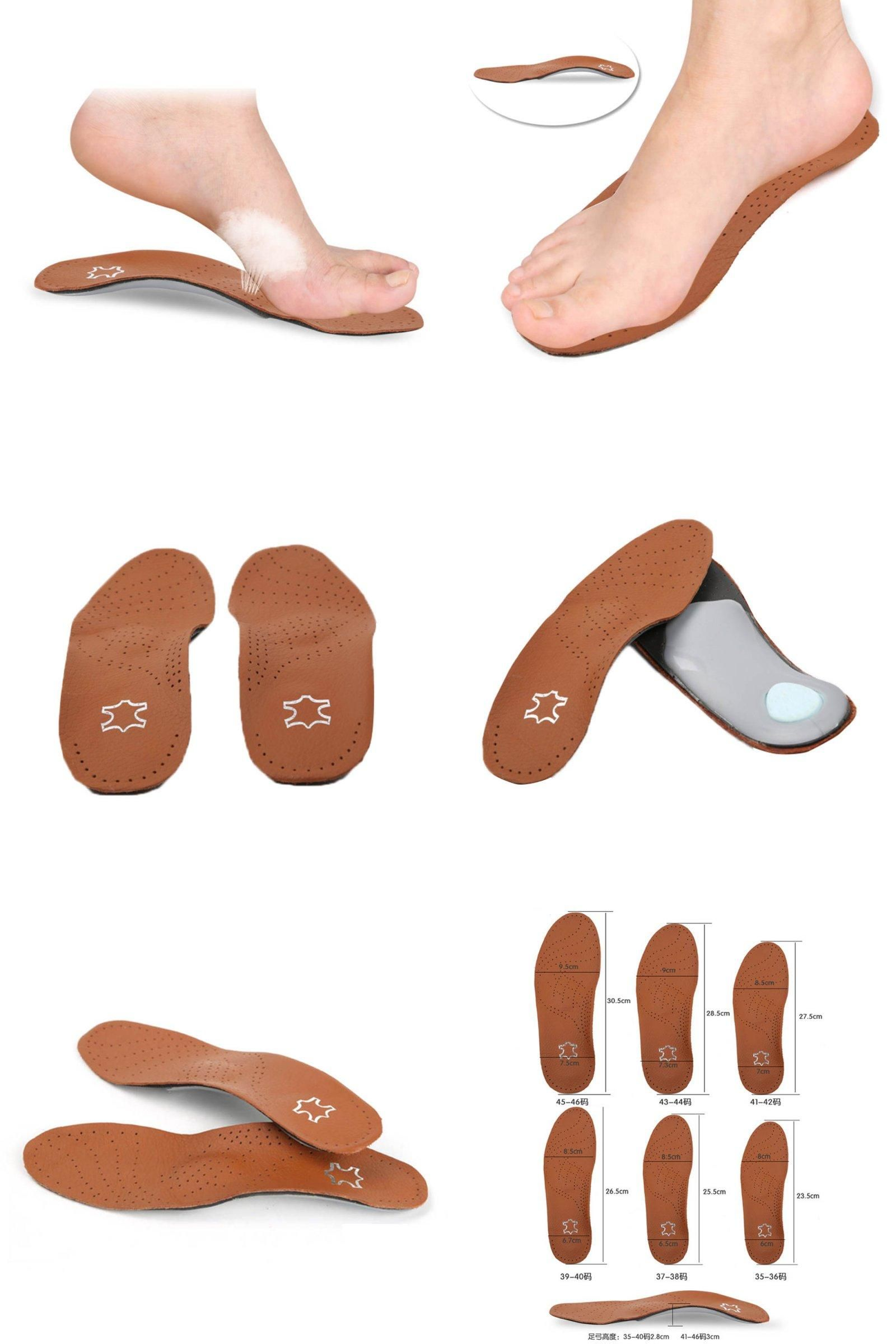 Visit to Buy New PU Leather Latex Orthopedic Insole Antibacterial