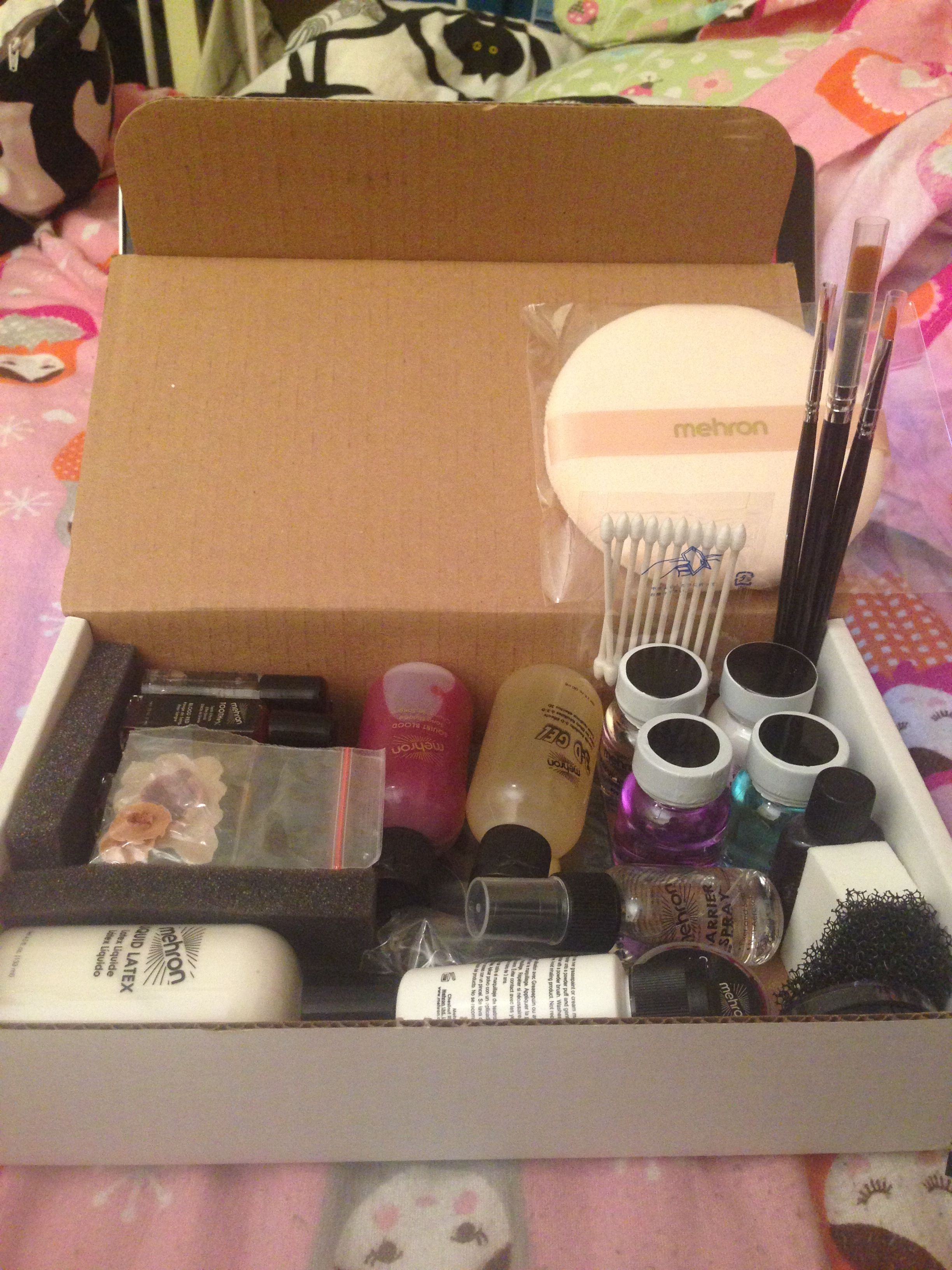 Amazing new Mehron Special Effects Makeup Kit! Tools of