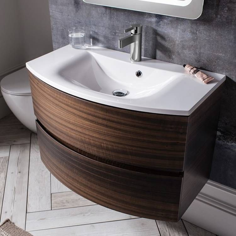 sumptuous design ideas bathroom vanities richmond hill. The Bauhaus Svelte 80 Eucalyptus Vanity Unit  Basin combines sumptuous curves with an elegant finish and features ample storage space sleek soft BATH