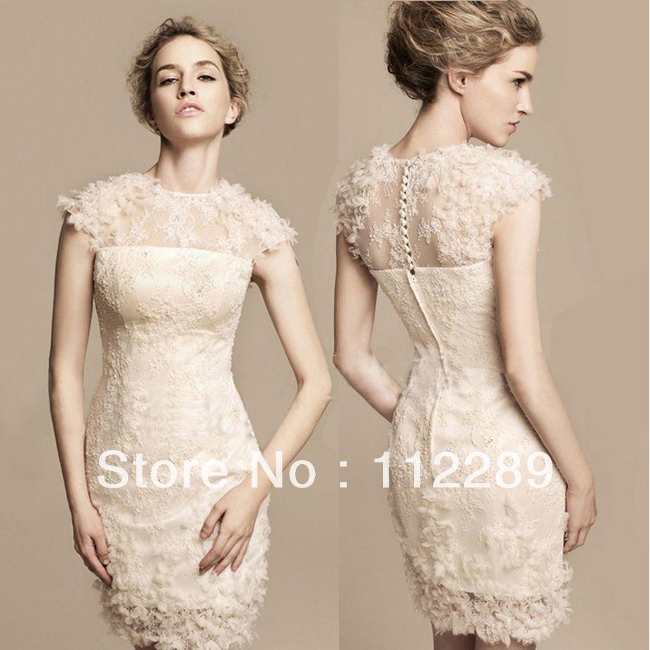 Short country lace wedding dresses short lace alibaba wedding