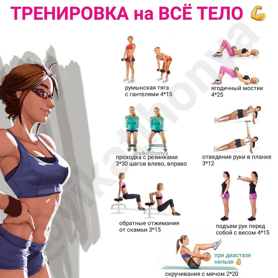 тренировка на все тело для похудения дома