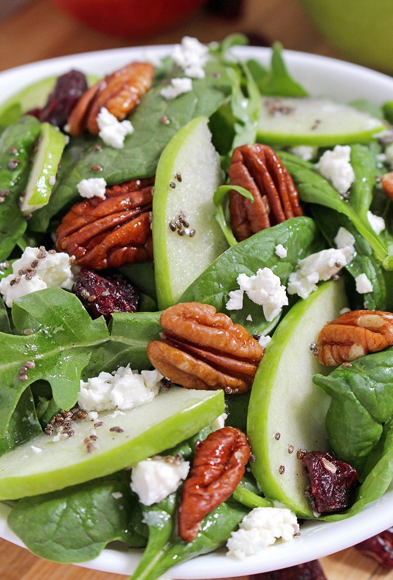 Cranberry Pecan Spinach Salad