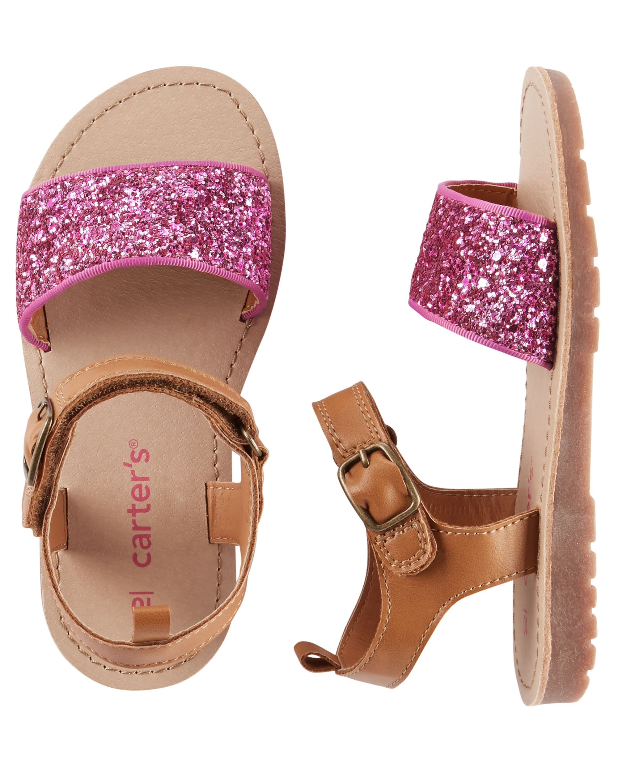9defd5a23cb995 Kid Girl Carter s Glitter Strap Sandals