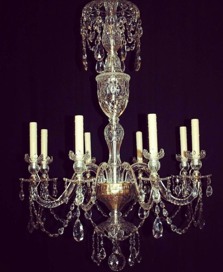 19th Century Waterford Crystal Chandelier 19th Century