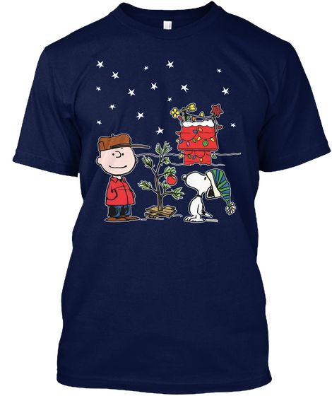 peanuts christmas t shirt peanuts xmas navy t shirt front - Peanuts Christmas Shirt