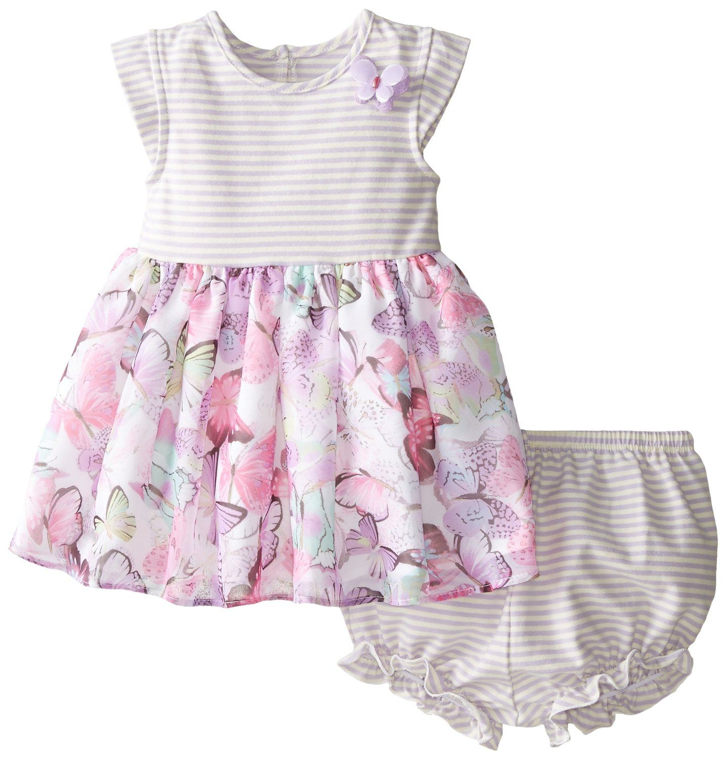 805b38af0a23 Amazon.com  Pippa   Julie Baby Girls  Butterfly Dress  Clothing ...