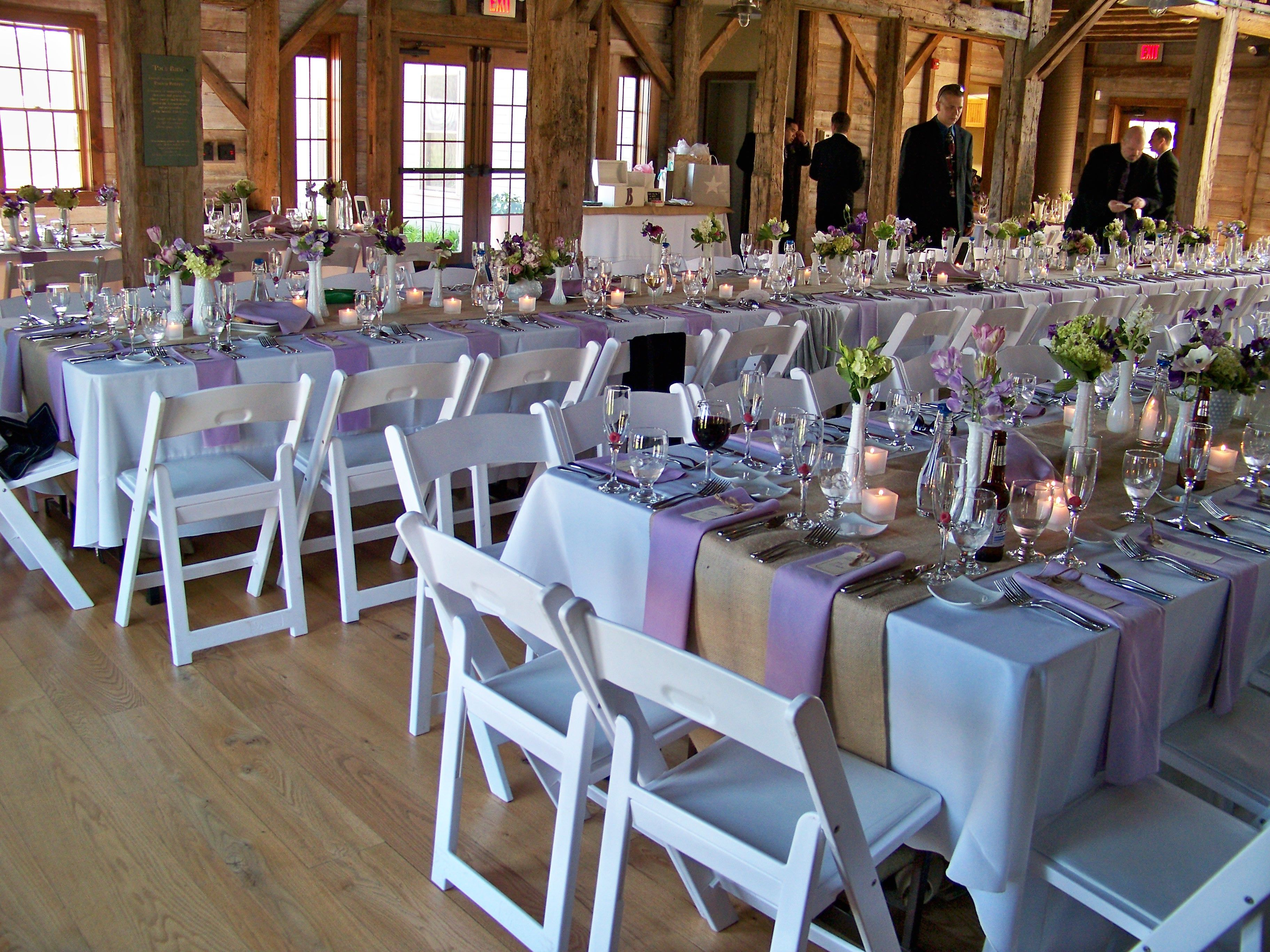Light Shades Of Purple Lilac Rustic Barn Wedding