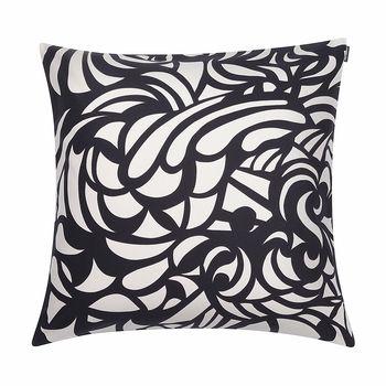 Marimekko Raakel Beige Black Throw Pillow Black Throw Pillows