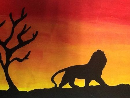 African Silhouette Landscapes Artsonia Art Museum Artwork By