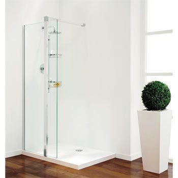 This Plain Glass Pillar From Coram Is A Modern Shower Screen Using A Minimalist Design The Bold Large Glass Pane Modern Shower Shower Screen Amazing Bathrooms