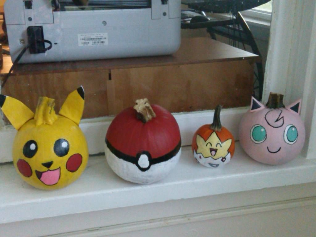 pokemon #pumpkins me and my best friend and her bro made. #pikachu ...