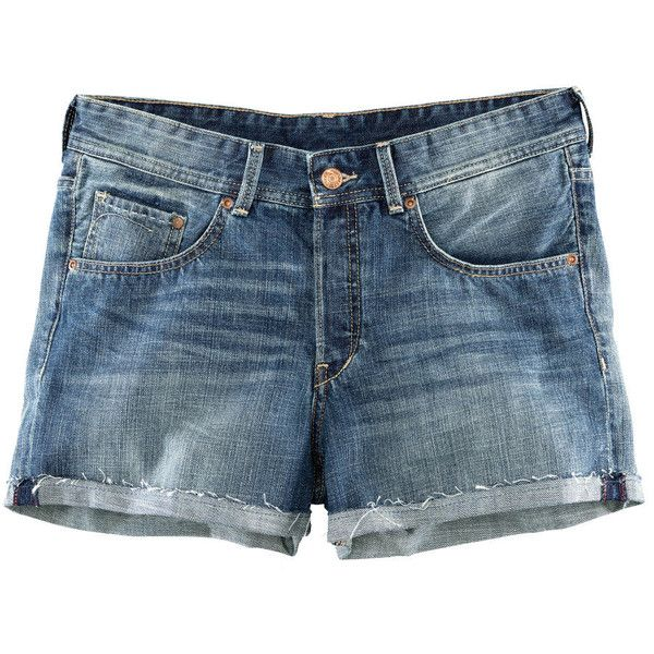 H&M Denim shorts ($25) ❤ liked on Polyvore featuring shorts, bottoms, short, denim, denim blue, short shorts, jean shorts, blue denim shorts, denim shorts and loose shorts