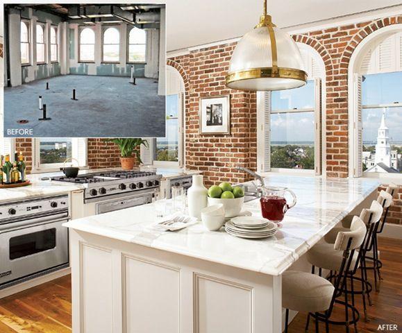 Modelos de Casas Americanas Bonitas | Kitchen gabinet/gabinetes de ...