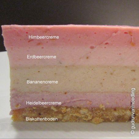 4 Sorten Fruchtcreme Traum Torte :-) (3.9/5) #recipeformarshmallows