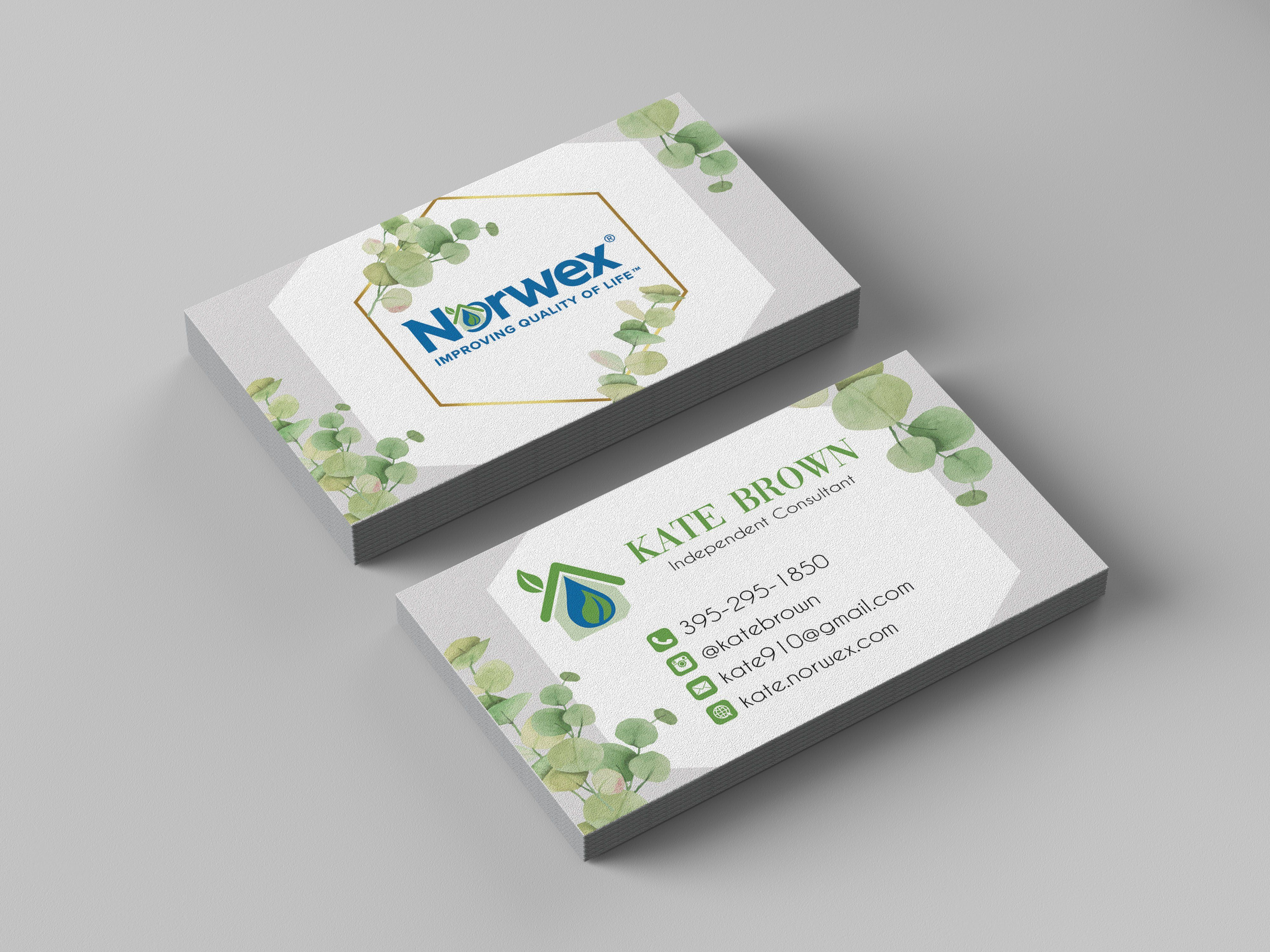 Norwex Business Cards Personalized Norwex Template Nw05 Cleaning Business Cards Norwex Arbonne Business Cards