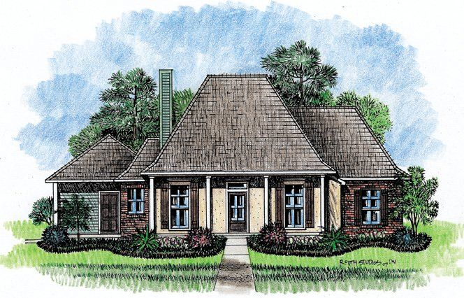 Madison acadian house plans louisiana house plans for Southern louisiana house plans