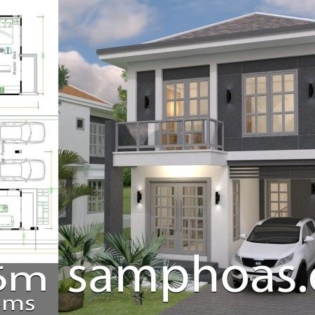 One Story House With 3 Bedroom Plot 36x50 Samphoas Plan Bungalow House Design Modern House Plans House Plans