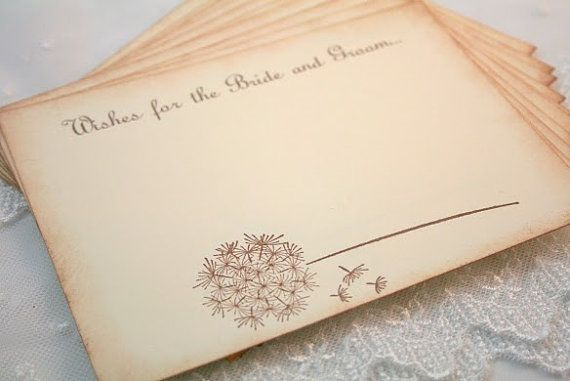 Wedding Wish Cards Guest Book Alternative By Seasonaldelights