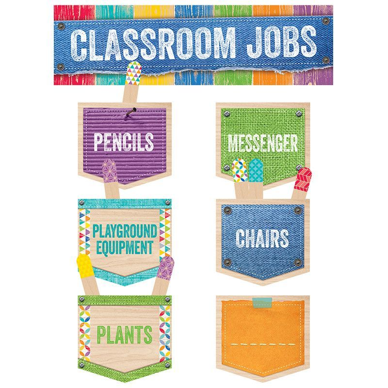 This Upcycle Style Classroom Jobs mini bulletin board