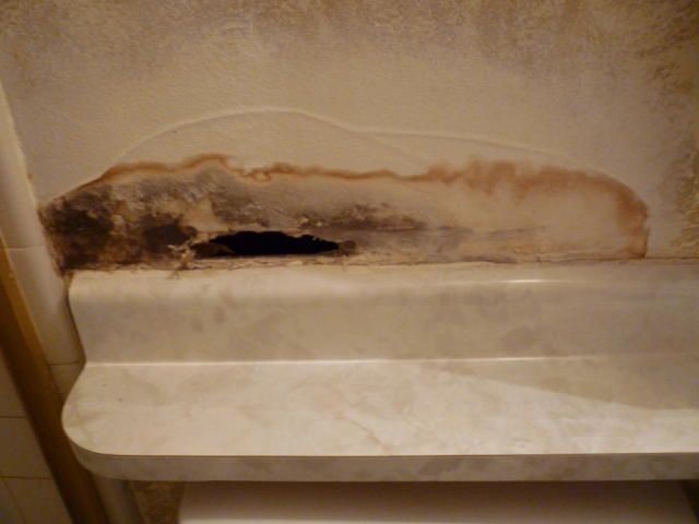 Water Leak Drywall Damage Hole In Wall Master Bathroom Phoenix