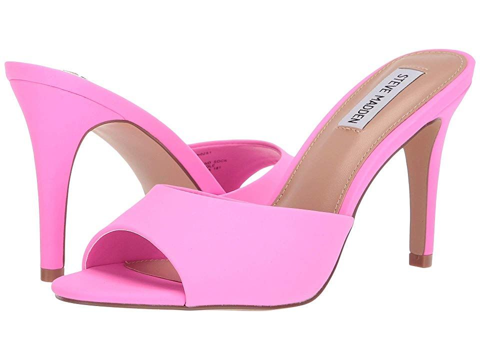 b3548333542 Steve Madden Erin Heeled Mule High Heels Pink Neon | Products in ...