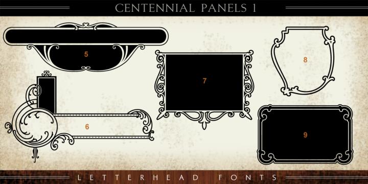 Download LHF Centennial Panels 1 Font Download #font#fonts# ...