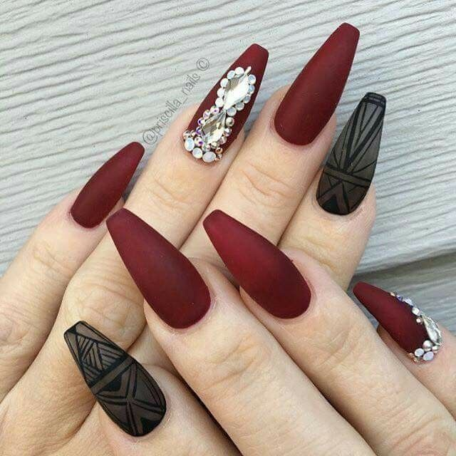 Coffin Nails Design Maroon Valoblogi Com