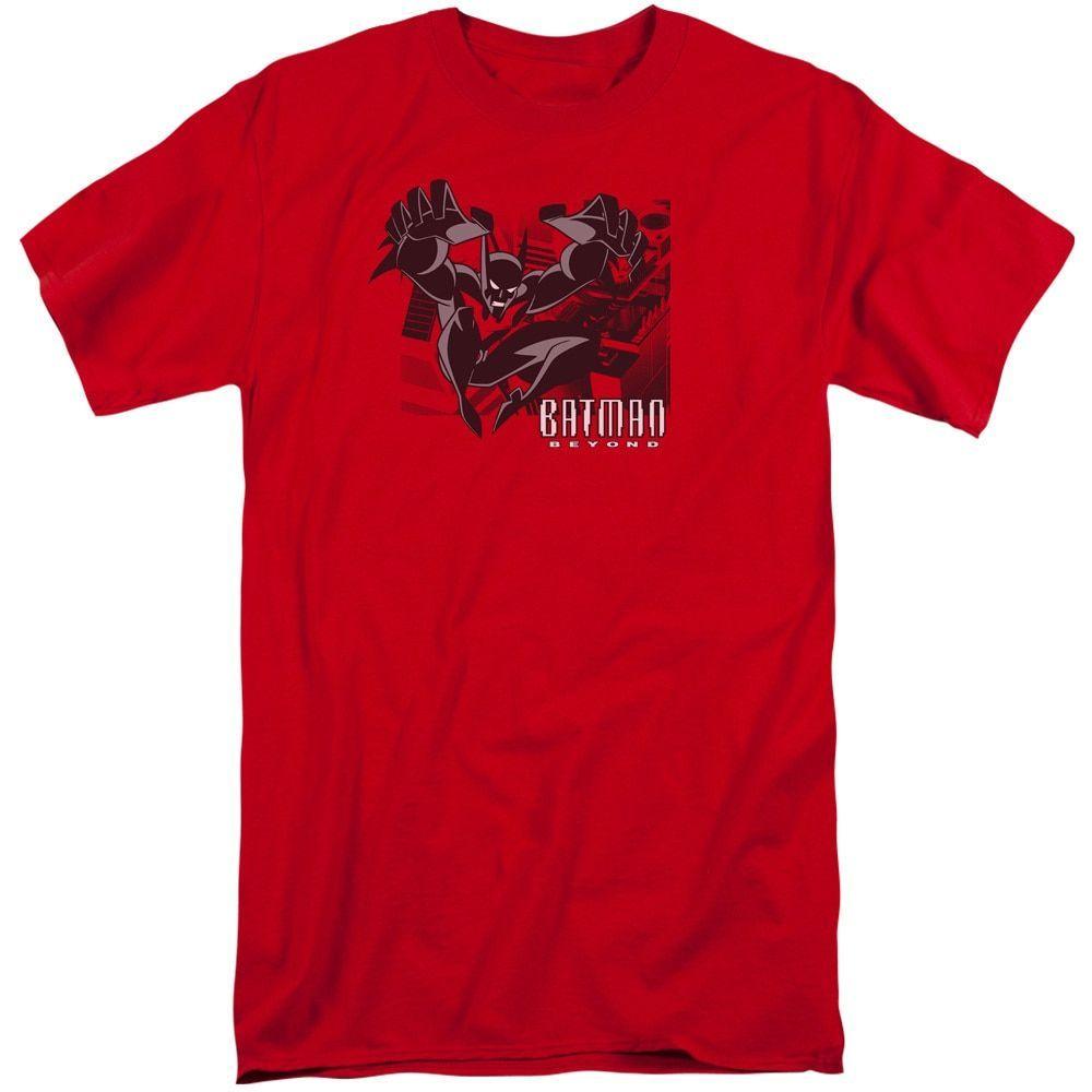 Batman Beyond/City Jump Short Sleeve Adult T-Shirt Tall in - Mens