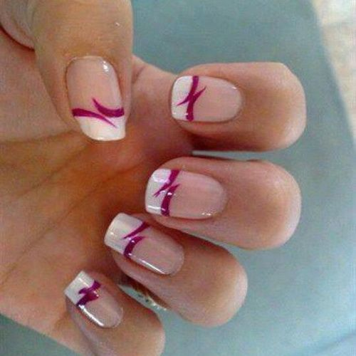 cute french nail designs simple and easy nail art designs short easy polish hair nails. Black Bedroom Furniture Sets. Home Design Ideas