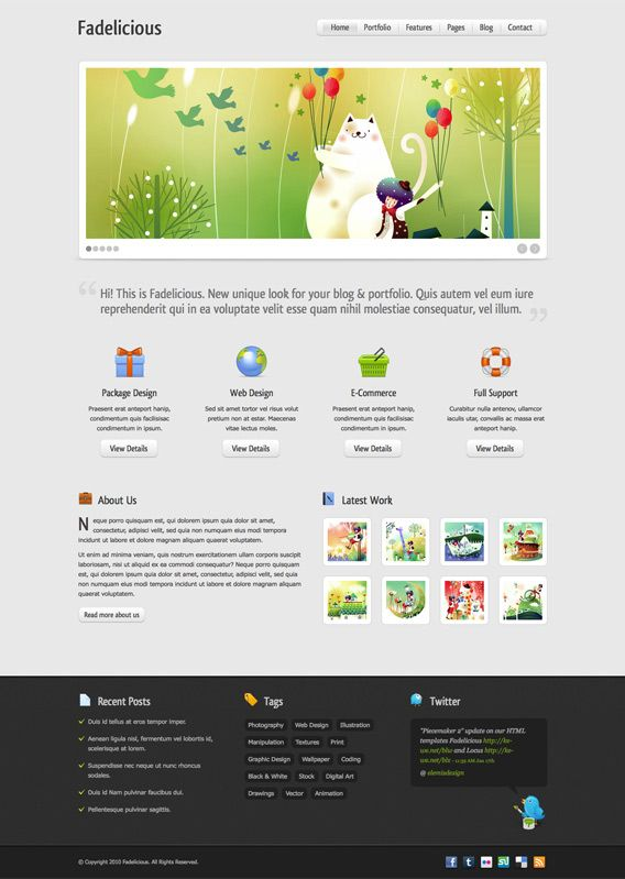 Fadelicious free homepage psd psd templates template and web fadelicious free homepage psd maxwellsz