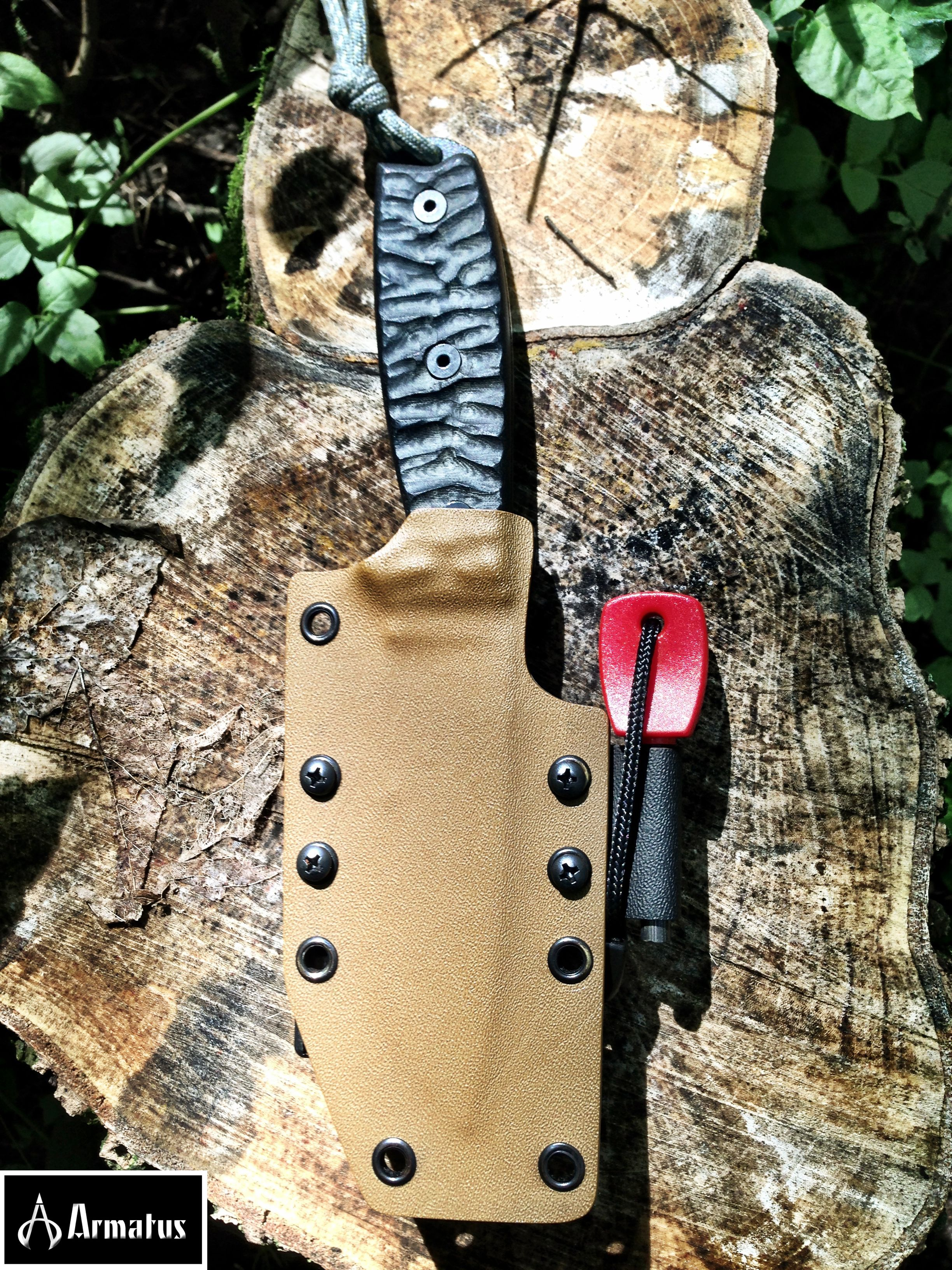 flint and armatus woodsman sheath ultimate outdoor survival gear