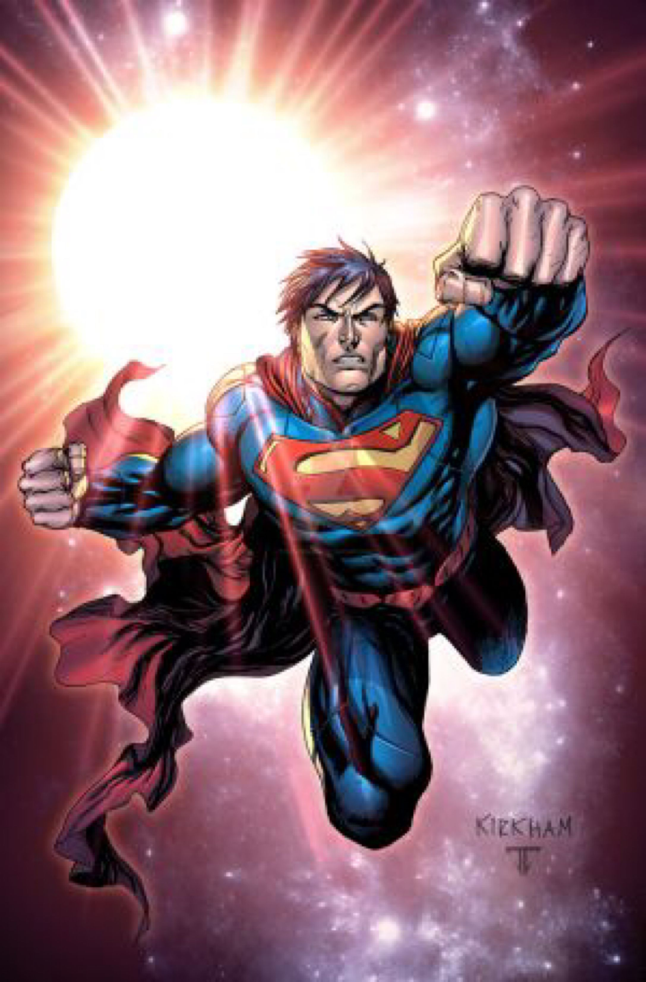 Superman Commission By Tylerkirkham On Deviantart Dc Comics Artwork Superman Art Superhero Art